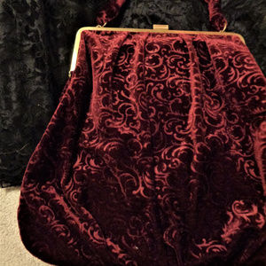 Velvet maroon Purse
